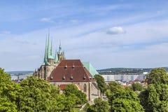 Katedralny wzgórze Erfurt w Thuringia, Niemcy Obraz Stock
