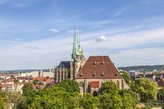 Katedralny wzgórze Erfurt w Thuringia, Niemcy Obrazy Stock