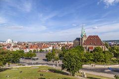 Katedralny wzgórze Erfurt w Thuringia, Niemcy Zdjęcia Royalty Free