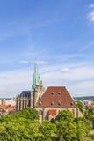 Katedralny wzgórze Erfurt w Thuringia, Niemcy Fotografia Stock