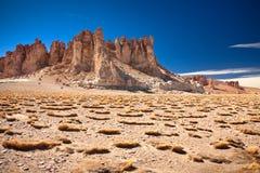katedry Chile de rockowy Salar Tara Obrazy Royalty Free