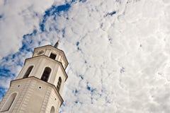 Katedry dzwonkowy wierza w Vilnius Zdjęcia Stock