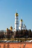Katedry Moskwa Kremlin, Rosja Obrazy Royalty Free