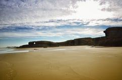 Katedry plaża jest jeden piękne plaże w Hiszpania, lokalizuje w Galicia w północy Hiszpania Obrazy Stock