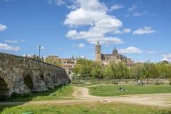 Katedry Salamanca Hiszpania Zdjęcie Royalty Free