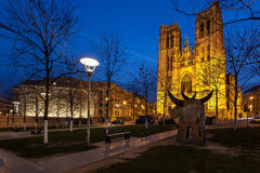 Katedry St Michael Bruksela Belgia Zdjęcie Royalty Free