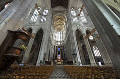 Katedry St Pierre Beauvais - wnętrze 06 Zdjęcia Royalty Free
