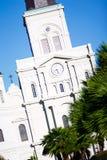 katedry zegarowego ludwika nowy Orleans st wierza Zdjęcie Royalty Free