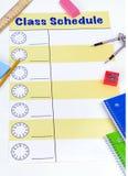 Kategorien-Zeitplan-Leerzeichen Lizenzfreie Stockbilder