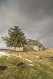 Katenruinen auf Dava Moor in Schottland lizenzfreie stockfotografie