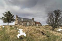 Katenruinen auf Dava Moor in Schottland lizenzfreies stockfoto