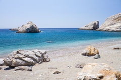 Katergo Strand, Folegandros Insel lizenzfreie stockfotos