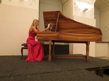 Katerina Chrobokova (harpsichord) Stock Photography