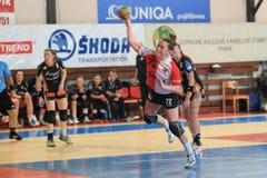 Katerina Keclikova - handboll Royaltyfri Fotografi