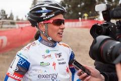 Katerina Nash - pro corridore di Cyclocross della donna Immagine Stock Libera da Diritti