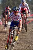 Katerina Nash - pro coureur de Cyclocross de femme Photo stock