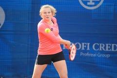 Katerina Siniakova - J&T Banka Prague öppnar 2015 Royaltyfri Foto