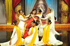 Kathak Dance. Traditional indian kathak dancing performance meant for mythological story telling Stock Photo