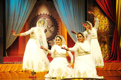 Kathak Dance. Traditional indian kathak dancing performance meant for mythological story telling Royalty Free Stock Photography