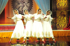 Kathak Dance. Traditional indian kathak dancing performance meant for mythological story telling Stock Photos