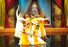 Kathak Dance. Traditional indian kathak dancing performance meant for mythological story telling Royalty Free Stock Photos