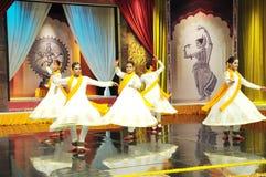 Kathak taniec Zdjęcia Royalty Free