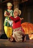 Kathak Tanzen-Pandit Birju Maharaj Gruppe Stockbilder