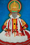 Kathakali印地安舞蹈绘画 免版税库存照片