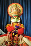 Kathakali舞蹈家表示 库存照片