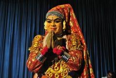 Kathakali舞蹈家 库存图片