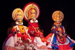 Kathakali,古典南印地安舞蹈戏曲 免版税库存图片