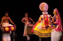 Kathakali,古典南印地安舞蹈戏曲 库存图片