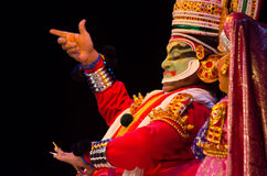 Kathakali,古典南印地安舞蹈戏曲 库存照片