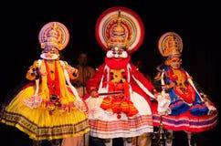 Kathakali,古典南印地安舞蹈戏曲 图库摄影