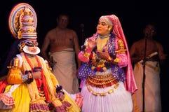 Kathakali, κλασσικό νότιο ινδικό χορός-δράμα Στοκ Φωτογραφία