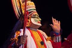 Kathakali, классическая южная индийская танц-драма Стоковое фото RF