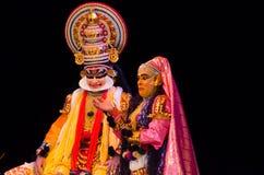 Kathakali, классическая южная индийская танц-драма Стоковые Изображения