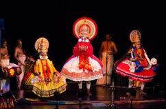 Kathakali, классическая южная индийская танц-драма Стоковое Изображение RF
