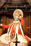 Kathakali 它是实际戏剧的一个有趣的最初的部分 库存照片