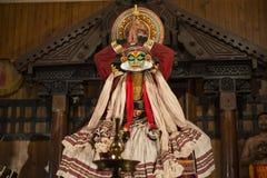 Актер Kathakali в Керале, Индии Стоковое фото RF
