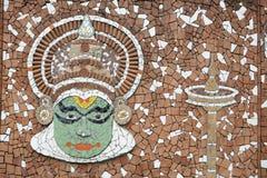τοιχογραφία kathakali Στοκ φωτογραφία με δικαίωμα ελεύθερης χρήσης