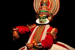 Kathakali actor Royalty Free Stock Photography