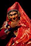 Kathakali actor in Kerala State, India Royalty Free Stock Photos