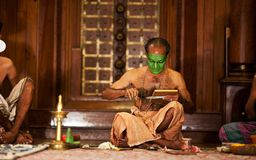 Kathakali actor make-up Royalty Free Stock Images