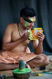 Kathakali actor make-up Royalty Free Stock Photography