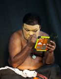 Kathakali actor make-up Stock Images