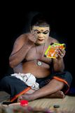 Kathakali actor make-up Stock Image