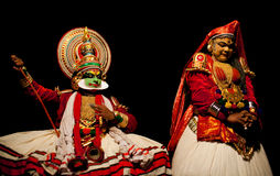 Kathakali actors royalty free stock photography