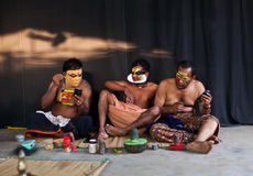 Kathakali actors royalty free stock images