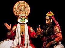 Kathakali actors stock photo